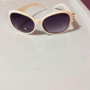 Coach White sunglasses